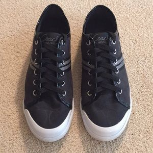 Coach Women's Signature Canvas & Patent Sneakers
